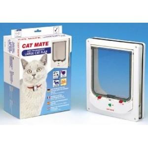 Cat Mate 256 Large Electromagnetic Catflap Kattenluik Wit