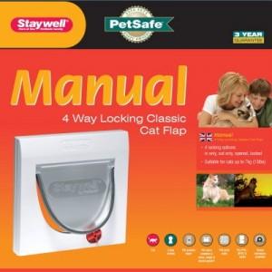 Staywell 919 Manual 4 Way Locking Catflap Kattenluik Wit