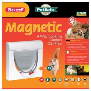 Staywell 932 Magnetic 4 way Catflap Kattenluik Wit