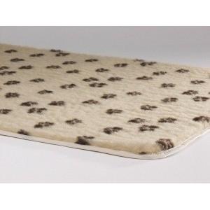 Vetbed Beige Met Pootjesprint voor honden Small