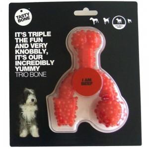 Tastybone Trio Bone Klein voor de hond Rund