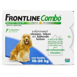 Frontline Combo Spot-On Hond M 3 pipetten 5 x 6 pipetten
