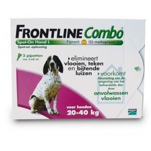 Frontline large hond combo spot on 3 pack