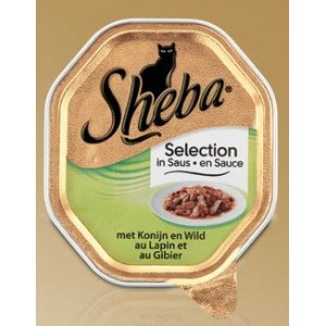 Sheba Selection Konijn en Wild in Saus Per 18