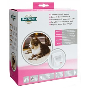 Staywell 500 Infra red Deluxe 4 Way Locking Kattenluik Wit
