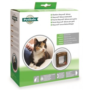 Staywell Manual Deluxe 4 Way Locking Kattenluik Bruin (320)