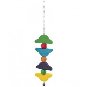 Ferplast houten Vogelspeelgoed Papegaai PA-4096 Per stuk