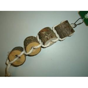 Boon Houten Boomstammetjes met Touw 020 1615 Vogelspeelgoed Per stuk