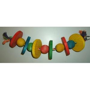 Boon Gekleurde Kralen aan Touw 020 1624 Vogelspeelgoed Per stuk