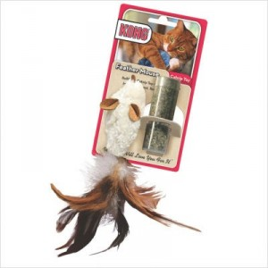 Kong Feather Mouse kattenspeelgoed Per stuk