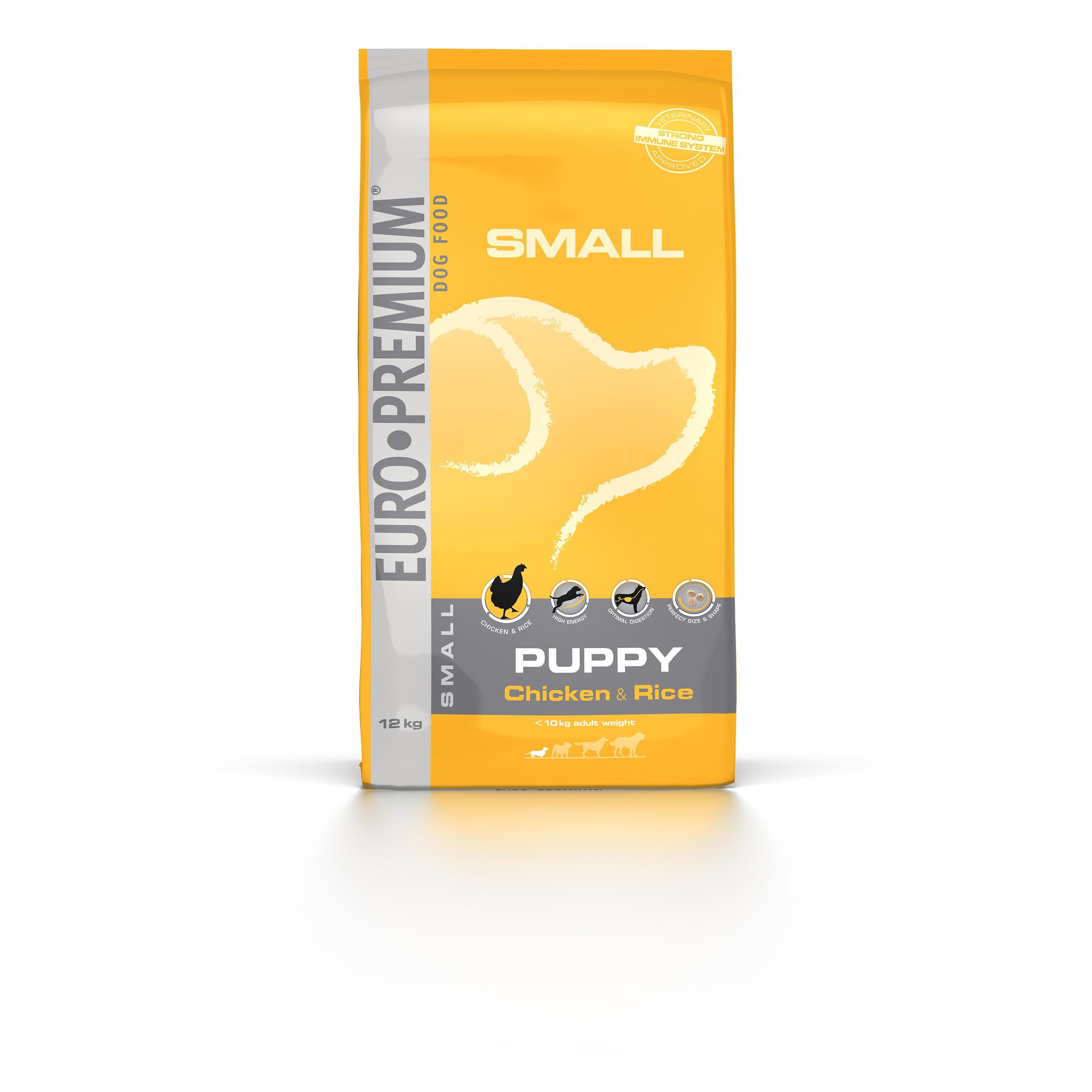 Euro Premium Small Puppy Chicken & Rice hondenvoer