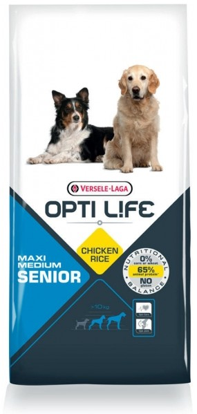Opti Life Senior Medium/Maxi hondenvoer
