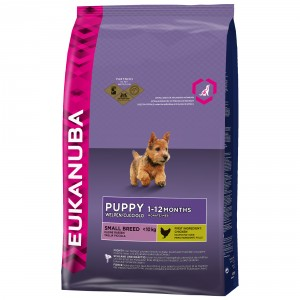 Eukanuba Puppy Small Breed hondenvoer OP is OP