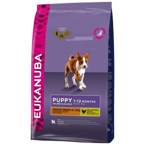Eukanuba Puppyjunior medium breed Hondenvoer 12 kg