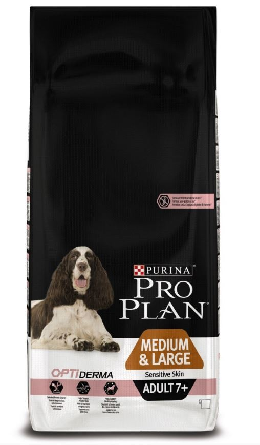 Pro Plan Optiderma Medium & Large Adult 7+ Sensitive Skin hondenvoer
