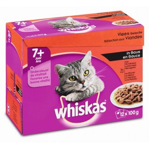 Whiskas Pouch Senior 7+ Vlees Selectie in Saus