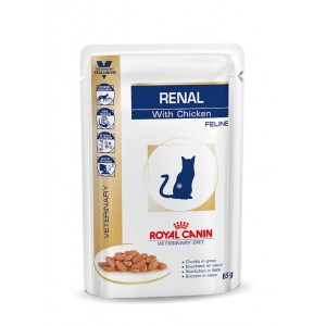 Royal Canin Veterinary Diet Renal Chicken zakjes kattenvoer