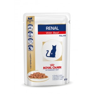 Royal Canin Veterinary Diet Renal Beef kat zakjes