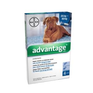 Advantage Nr. 400 vlooienmiddel (vanaf 25kg) hond