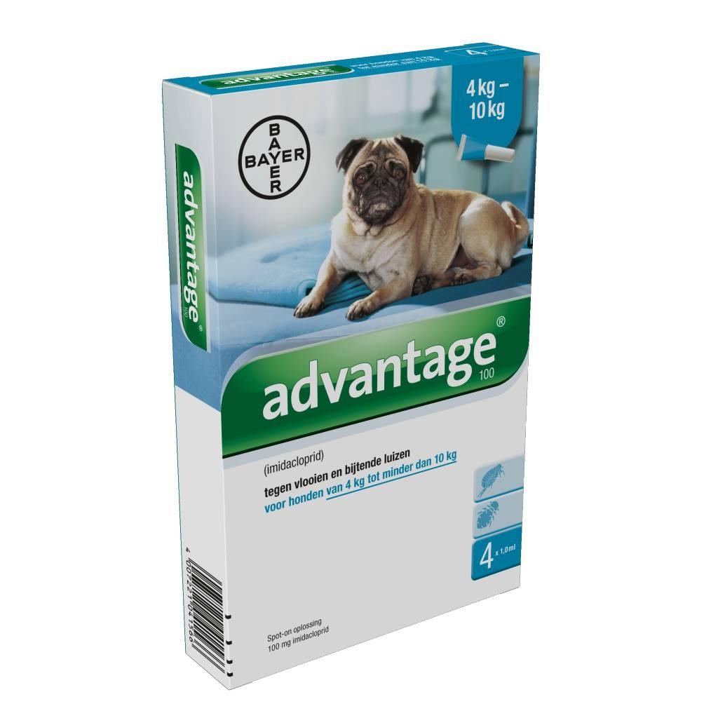 Advantage Nr. 100 vlooienmiddel (4 tot 10kg) hond
