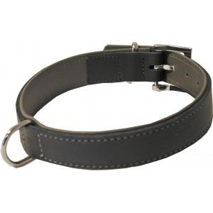 Soft Leren Halsband Zwart/Grijs (9601720/21/22)