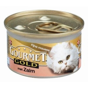 Gourmet Gold Mousse Zalm kattenvoer Per stuk