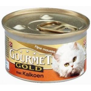 Gourmet Gold Mousse Kalkoen kattenvoer per blik (OP is OP)