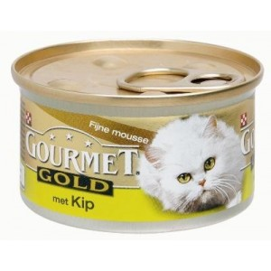 Gourmet Gold Mousse Kip kattenvoer per blik (OP is OP)