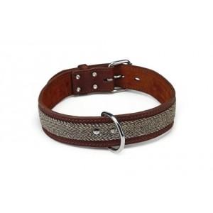 Beeztees Leren halsband Tweedy Bruin voor de hond 40 cm