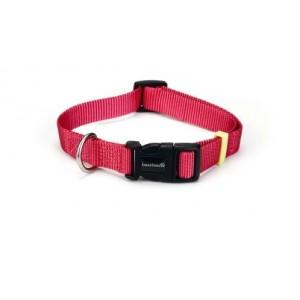 Beeztees Nylon Halsband Uni Roze voor de hond 35-50 cm