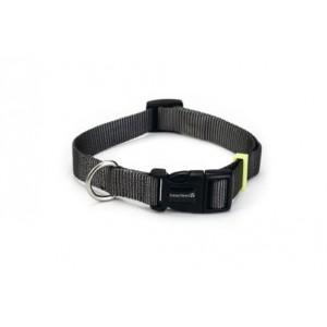 Beeztees Nylon Halsband Uni Donkergrijs voor de hond