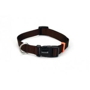 Beeztees Nylon Halsband Uni Donkerbruin voor de hond