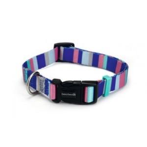 Beeztees Nylon Halsband Stripes voor de hond