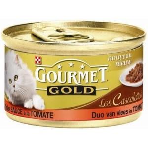 Gourmet Gold Les Cassolettes Duo van vlees in tomatensaus 1 tray (24 blikken)