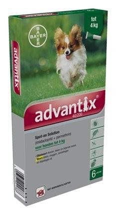 Advantix 40/200 voor honden tot 4 kg