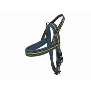 Hurtta Padded Harness 55 cm voor de hond Blauw - Groen
