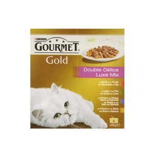 Gourmet Gold 8-Pack Luxe Mix kattenvoer