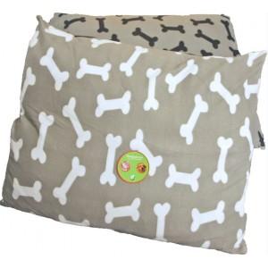 Hondenkussen Grijs met Botjes 85 x 70 cm Per stuk