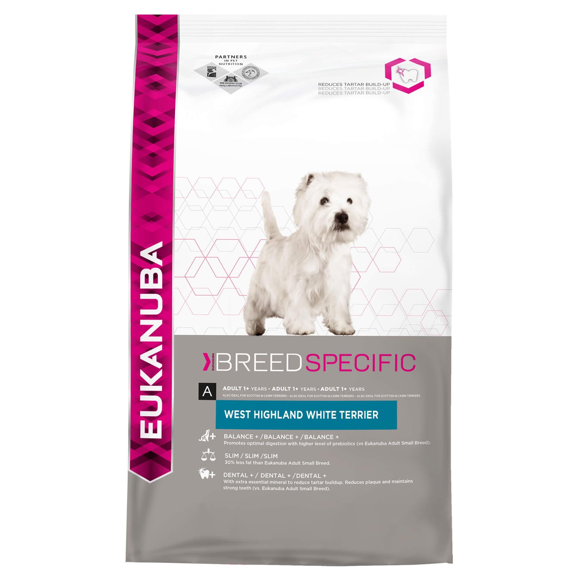 Eukanuba West Highland White Terrier hondenvoer