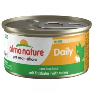 Almo Nature Daily Mousse met Kalkoen 85 gram (154) Per 24