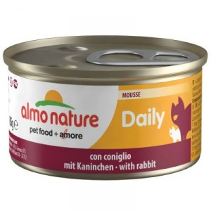Almo Nature Daily Mousse met Konijn 85 gram