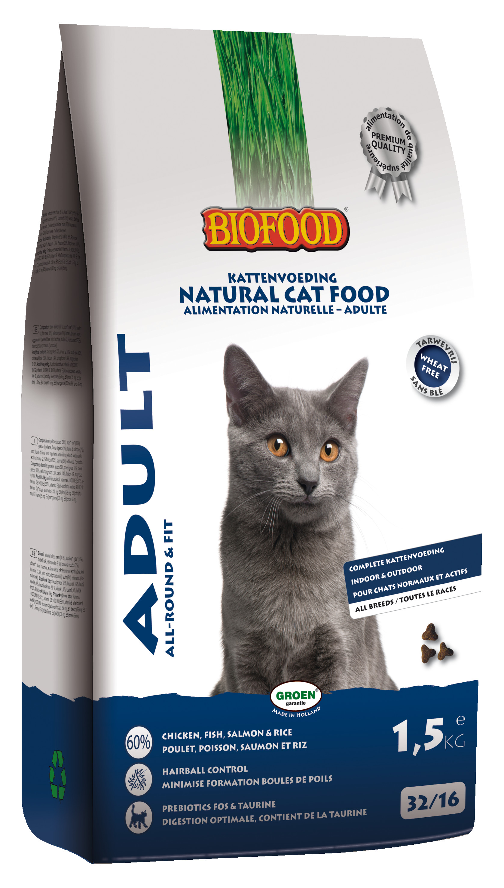 Biofood Adult Allround & Fit kattenvoer