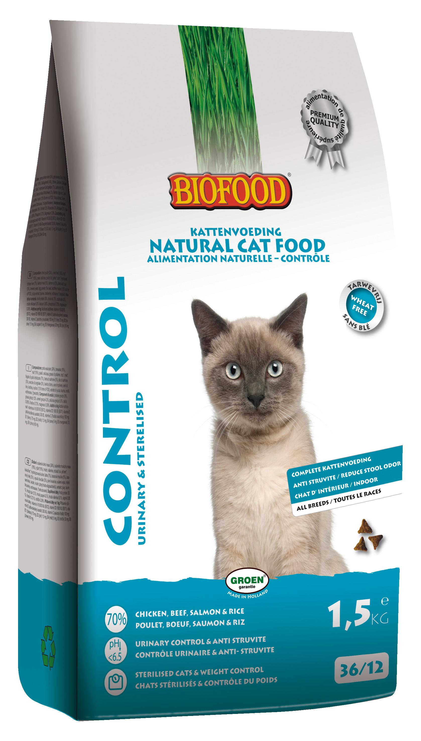 Biofood Control Urinary & Sterilised kattenvoer