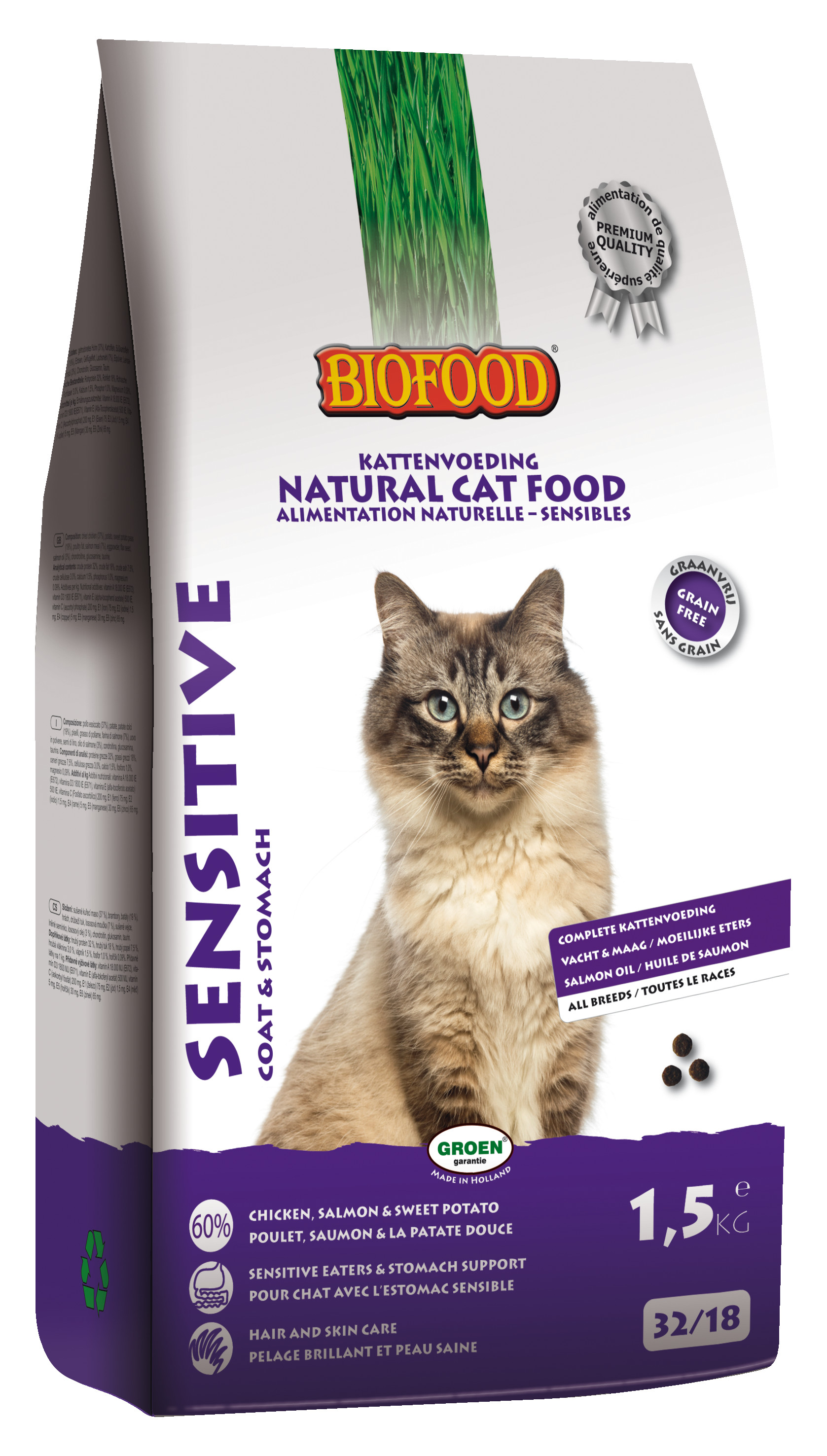 Biofood Sensitive Coat & Stomach kattenvoer