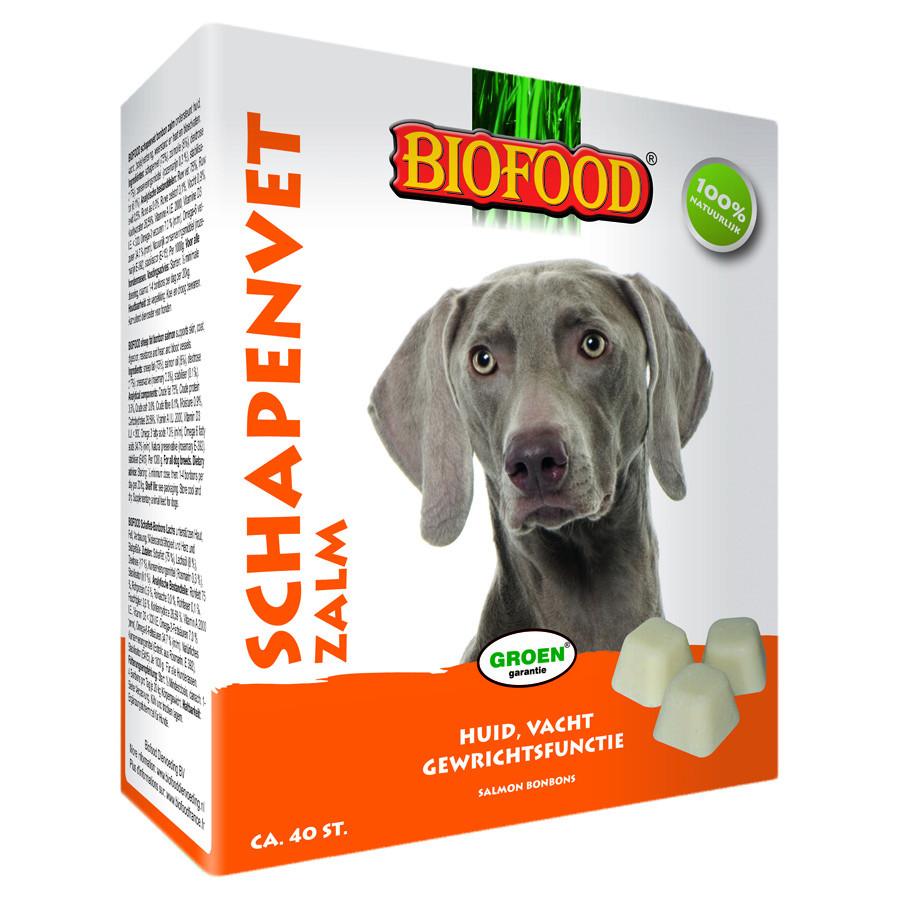 Biofood Schapenvet Maxi Bonbons met zalm