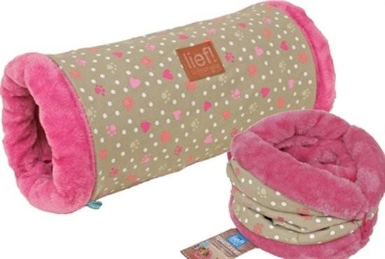 Lief! Speeltunnel Girls voor kat, pup en konijn
