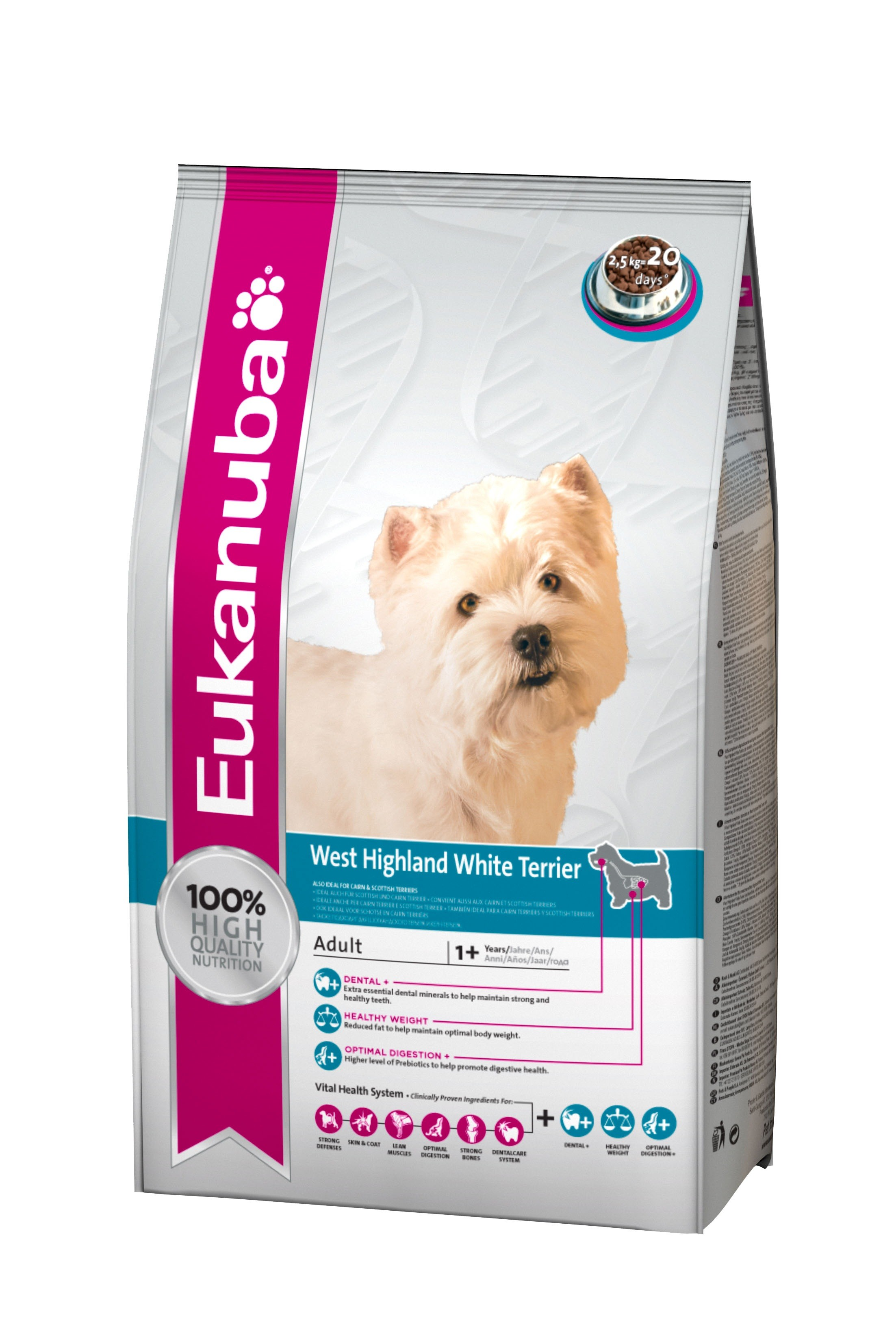 Eukanuba West Highland Whitye Terrier hondenvoer