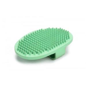 Beeztees Rubberen Massageborstel Ovaal Mint voor de hond