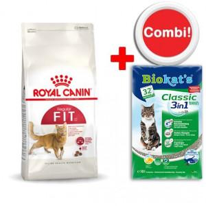 Royal Canin kattenvoer + Biokat kattengrit Combi Aanbieding