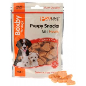 Boxby for dogs Puppy Snacks Mini Hearts 100 gram